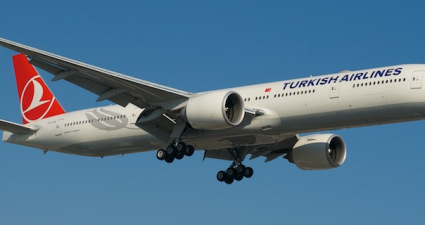 """Rumeli"" on short final, Toronto Pearson"