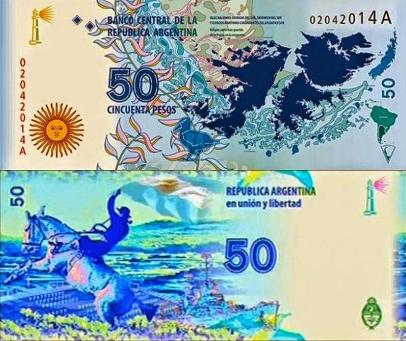 novas notas de peso argentino50