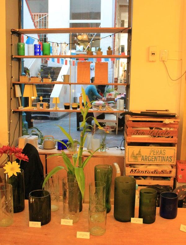 vidros reciclados no Patio del Liceo