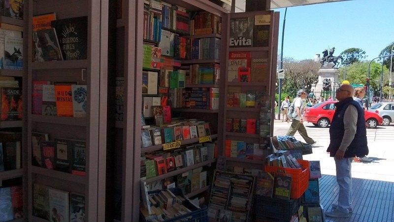 feira de livros usados em Buenos Aires